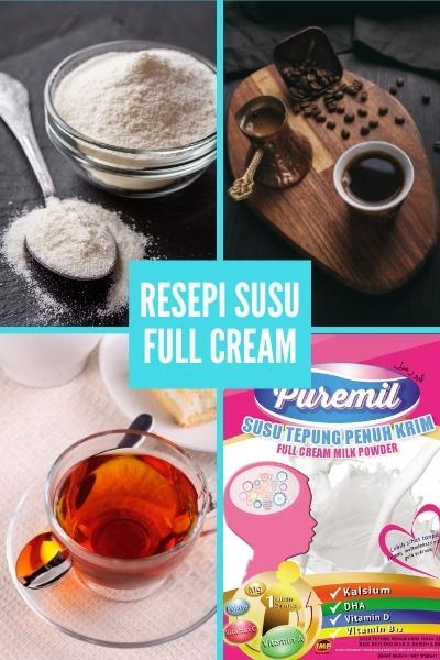 resepi susu full cream puremil