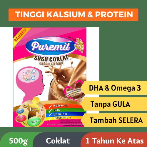 susu puremil susu full cream coklat omega 3